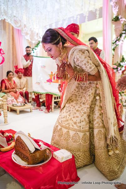 Indian Bride Praying to god