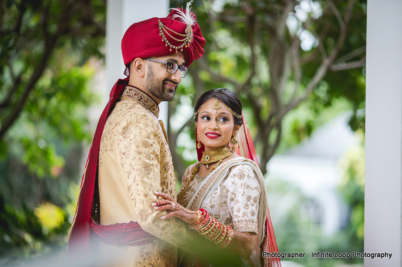 Gorgeous indian Couple posing