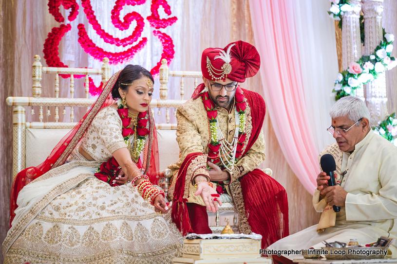 Indian Couple in mandap
