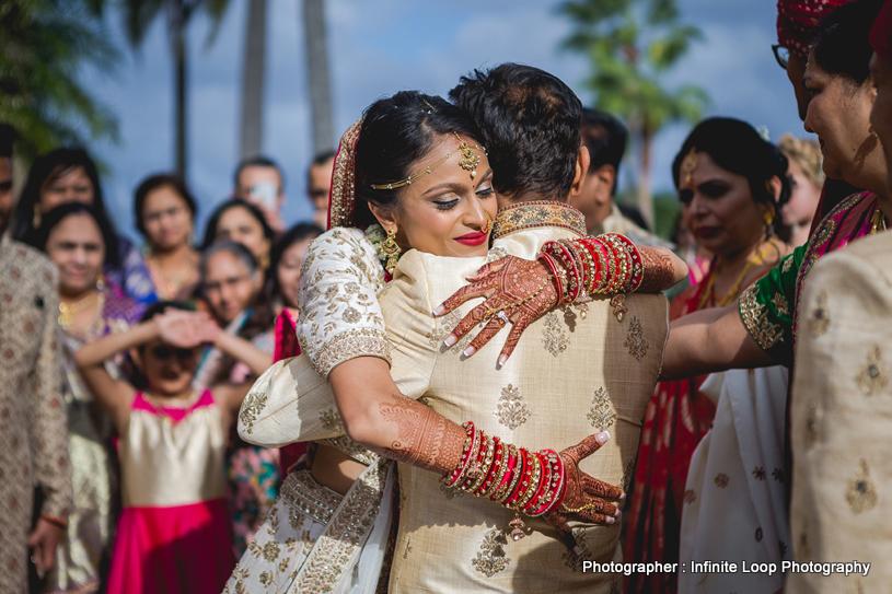 Indian Bride at vidaay ceremony