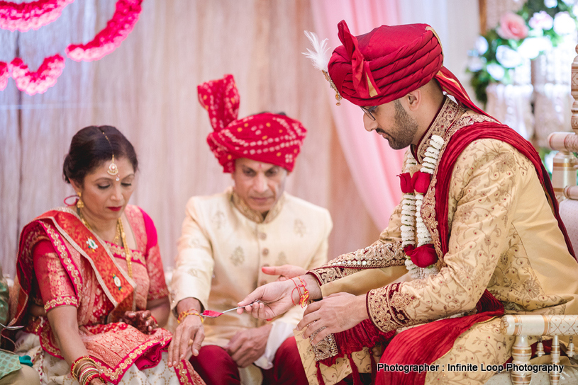 Indian Groom doing wedding rituals
