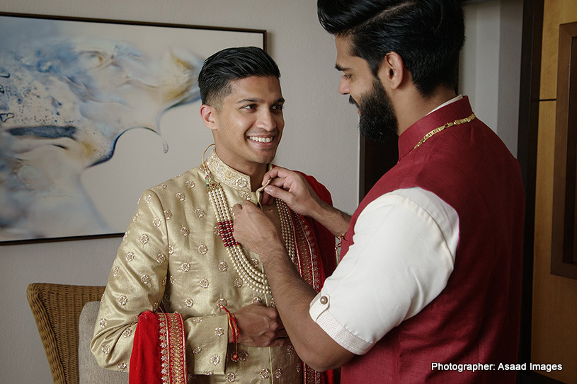 Indian Groom Getting ready for his big day