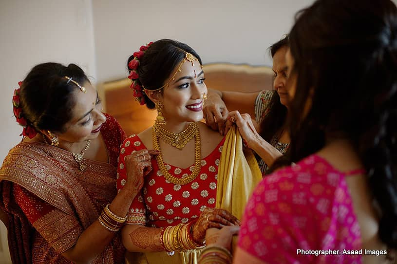 Indian bride Getting ready for his big day