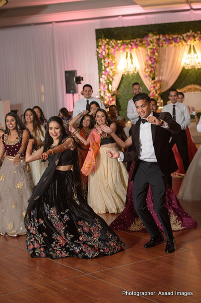 Gorgeous Indian Couple dancing at reception