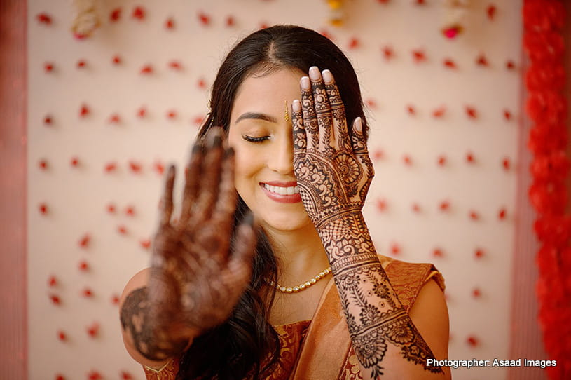 Indian bride Mehndi