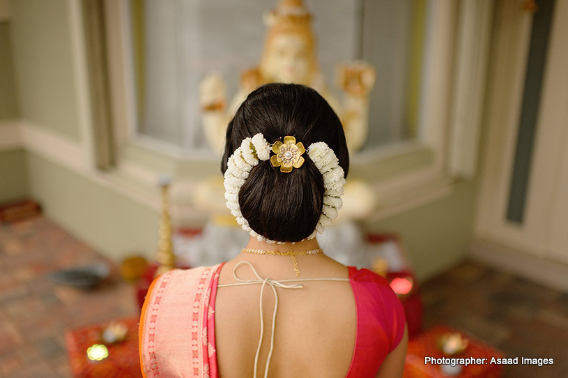 Gorgeous Hair done of indian bride