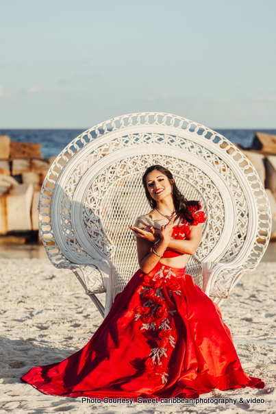 Bridal Photoshoot On beach