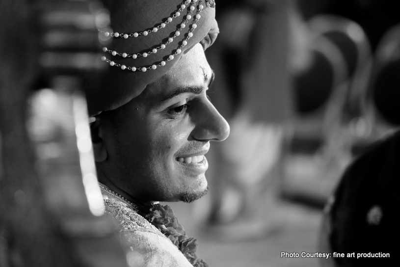Monochrome click of Indian Groom