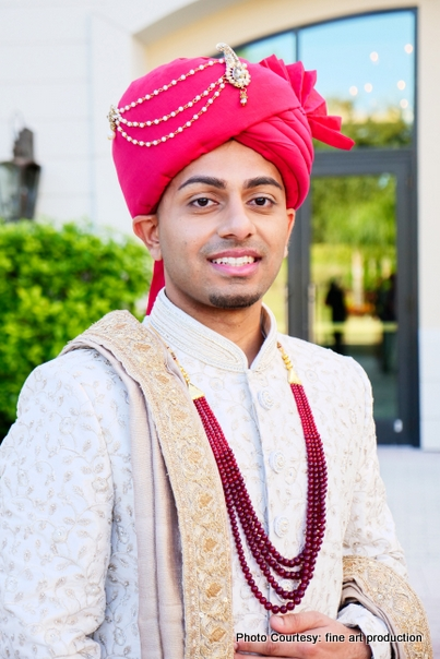Turban - Indian Groom Wearing During wedding Ceremony
