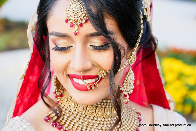 Detailed Look of Indian Bride of HMU