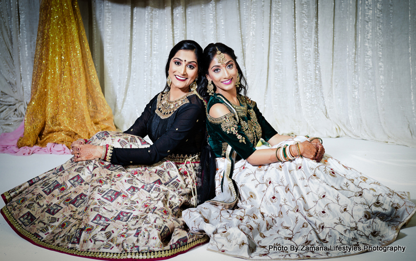 Bride Posing with her friend
