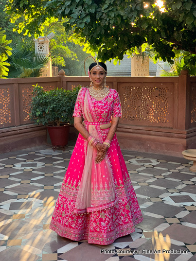Lovely Indian Bride Posing For a photo