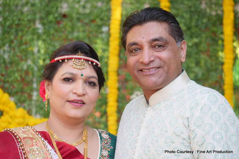 Portrait click of Indian Parents