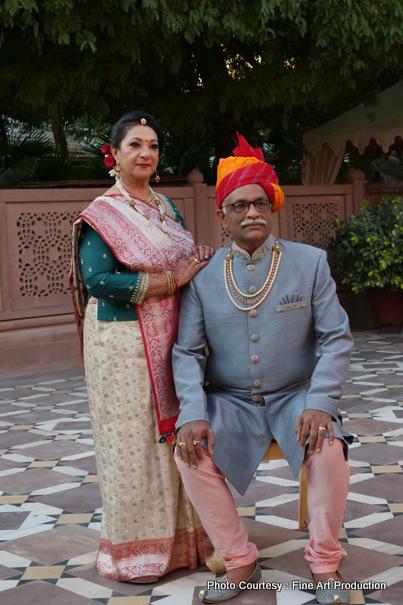 Parents of Indian groom