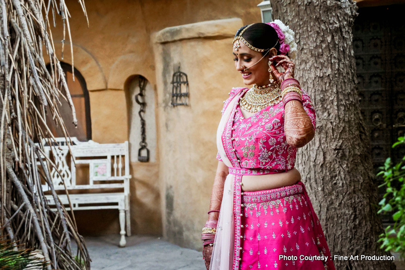 Lovely Portrait Click of Indian bride