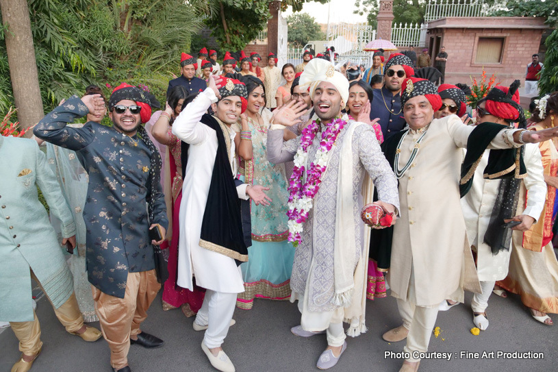 Friends And Family Dancing at the baraat