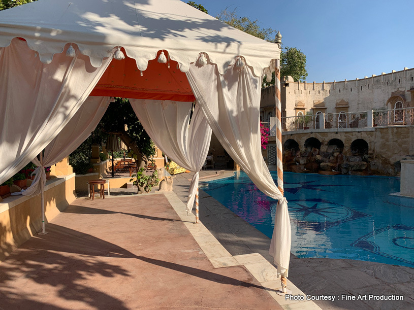 Indian Wedding ceremony by the pool