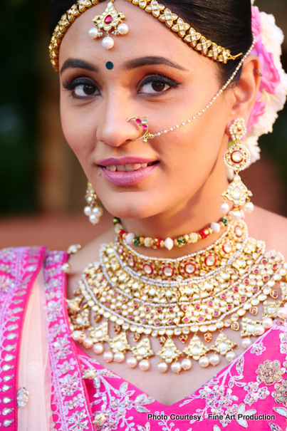 Indian bride After Hair and Make Up