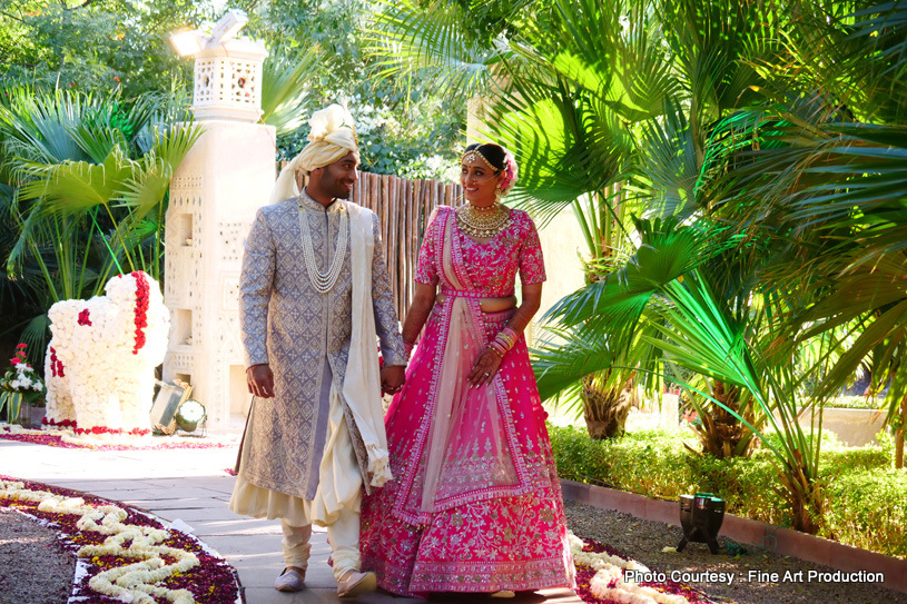 Indian Bride and Groom Holding hands Forever