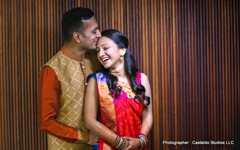 Indian Bride and Groom Enjoying their Wedding Movement