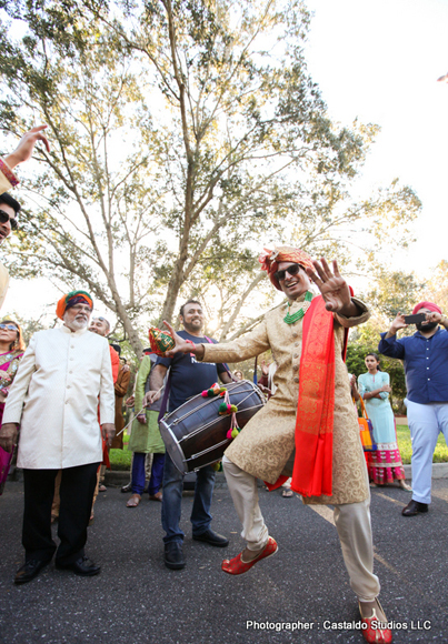 Indian Groom Dancing at his Baraat Posseccion