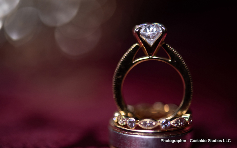 Engagement Ring of Indian Bride and Groom