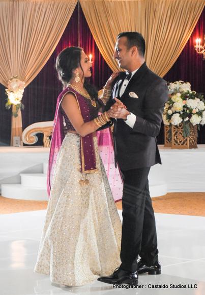 Newly weds Indian Couple dancing couple dance