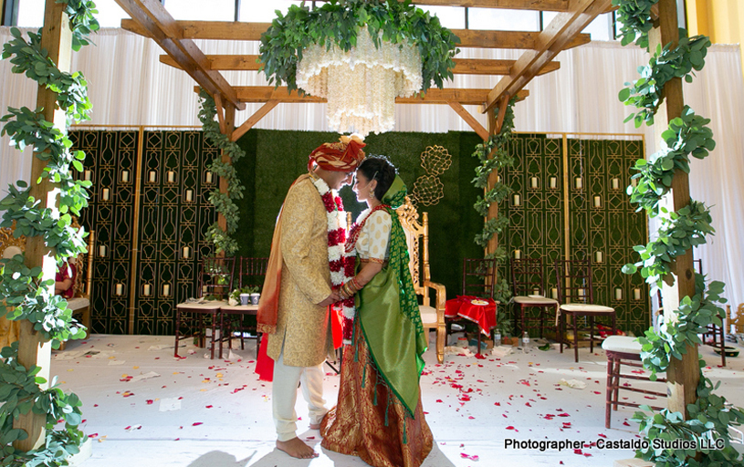 Indian Bride and Groom having Tender Movement