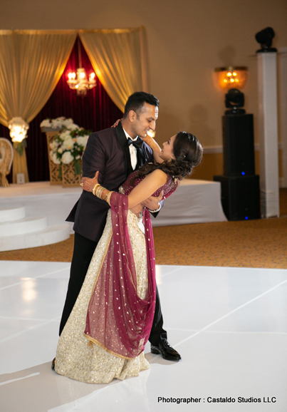 Lovely Indian bride and groom's dance