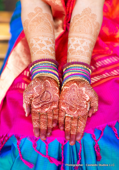 Indian Bride Showing Her Wedding Mahendi