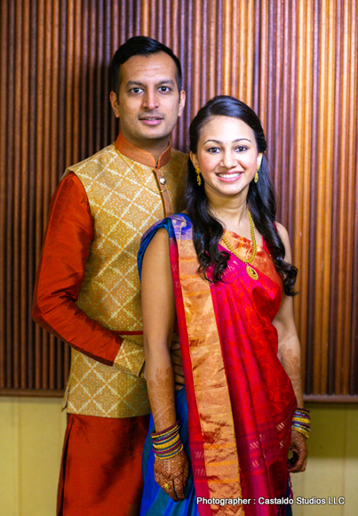 Newly Weds Indian Couple Possing for Capture