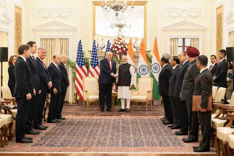 Prime Minister Narendra Modi with President Trump