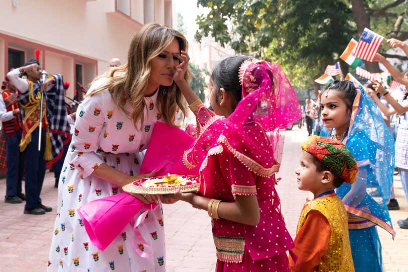 First Lady to enjoy and experience the rich cultural heritage of India