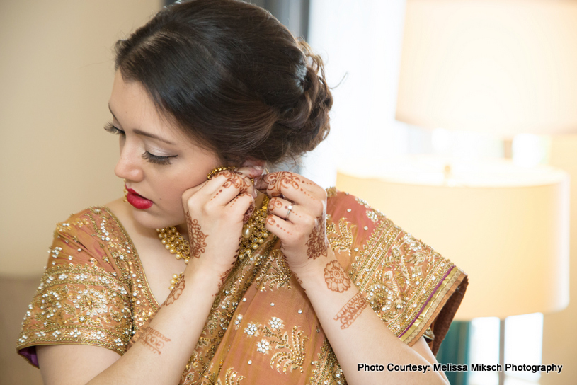 Indian Bride Getting ready for her wedding