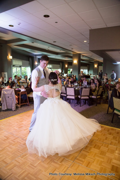 Wedding couple performing their first dance
