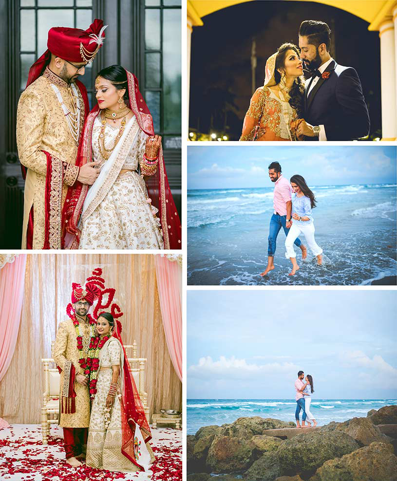 First look of indian wedding couples