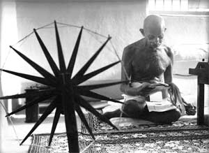 Gandhi is well known for his leadership in the Indian independence movement and pioneering the nonviolent techniques of Satyagraha