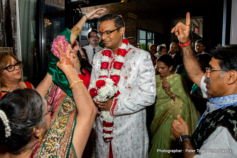 Indian Bride's Family Welcomed Indian Groom