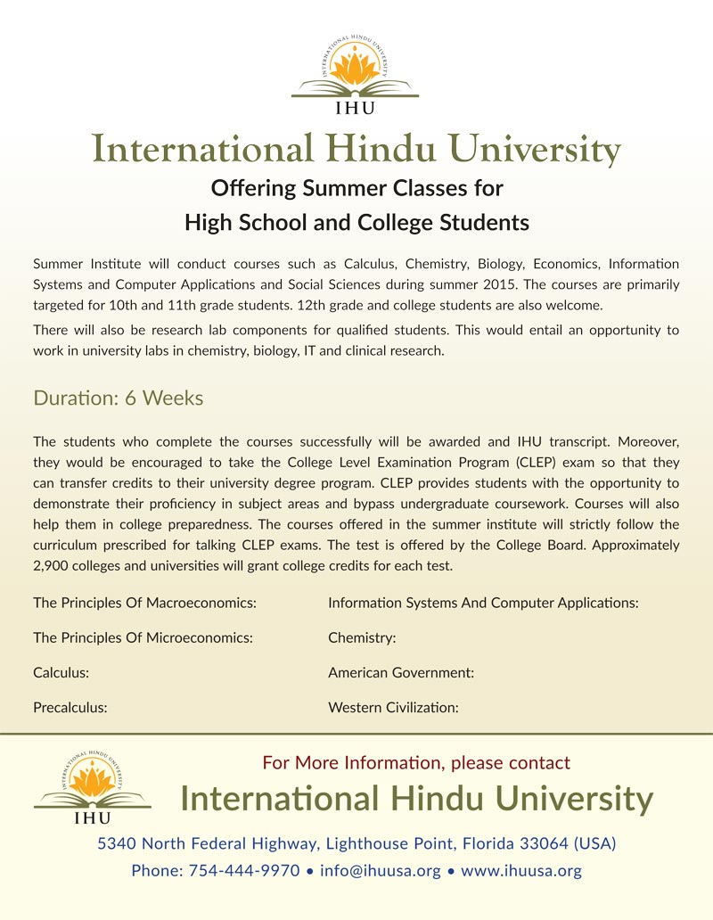 International Hindu University