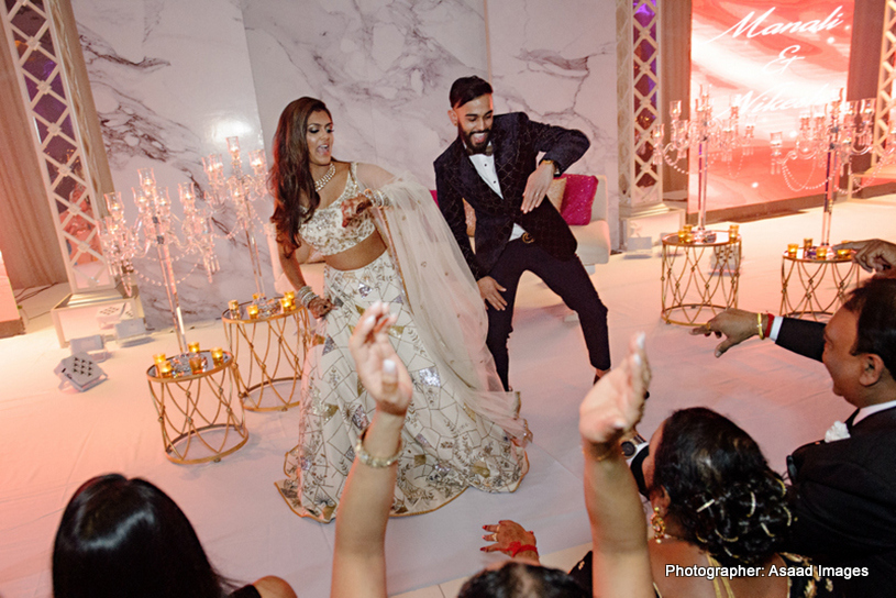 Indian Bride and Groom's First Dance Performance
