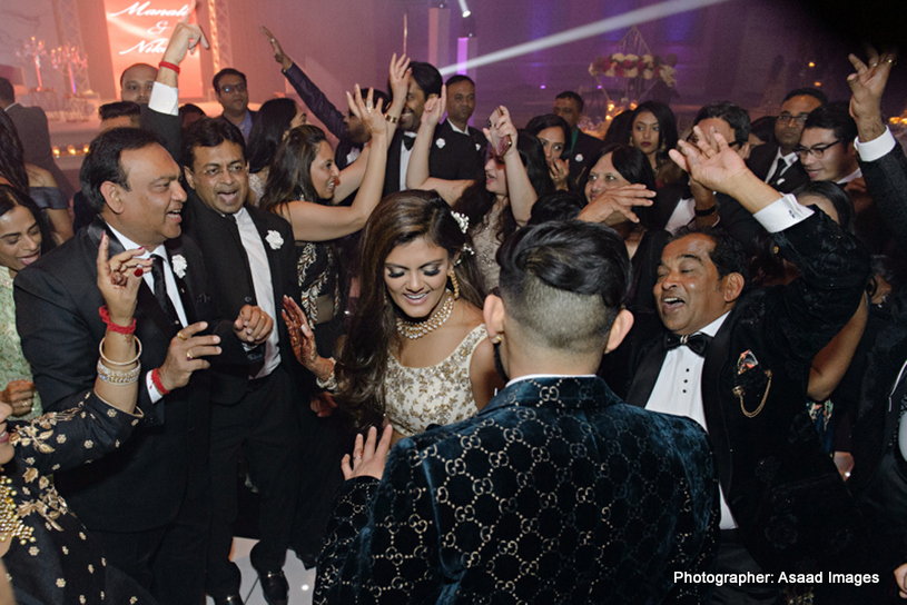 Indian Wedding Reception Group Photo
