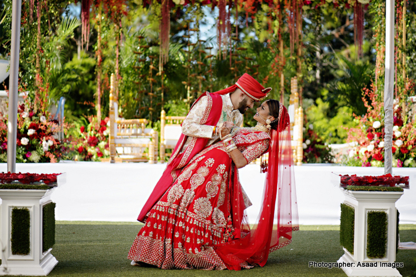 Indian Bride and Groom Possing for Photoshoot