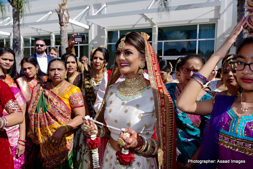 Indian Bride with Indian Wedding Garland