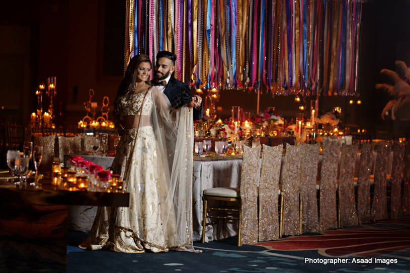 Indian Couple in Reception Atire