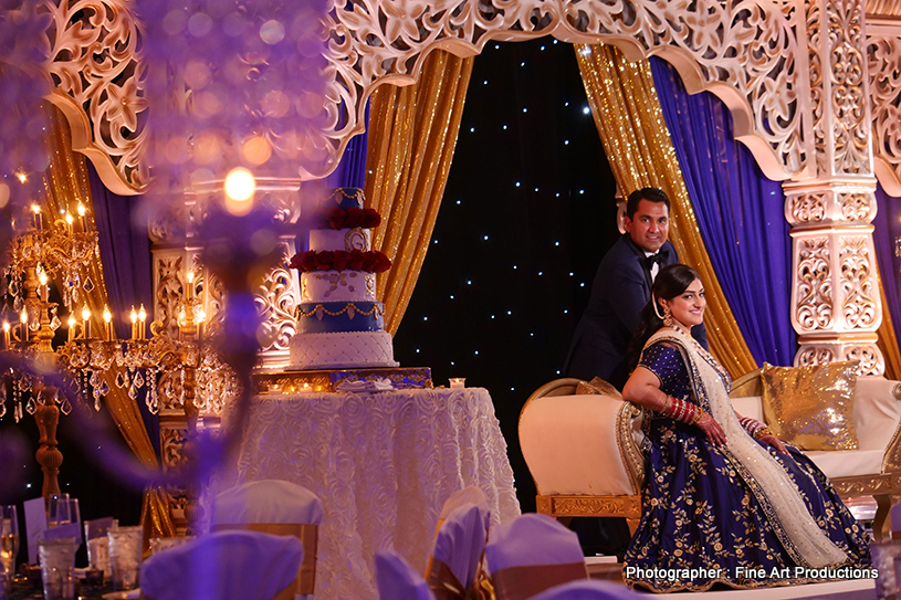 Indian Bride and groom having romantic moment