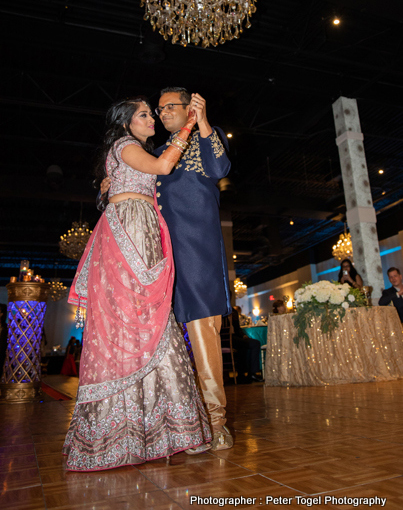 Indian Bride and Groom Dance Performance