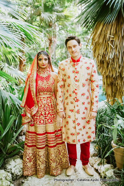 Indian Bride and Groom in Wedding Attire