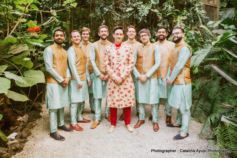 Indian Groom with Groomsman Outdoor shoot
