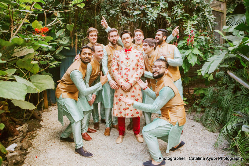 Indian Groom Enjoying with Groomsman Capture