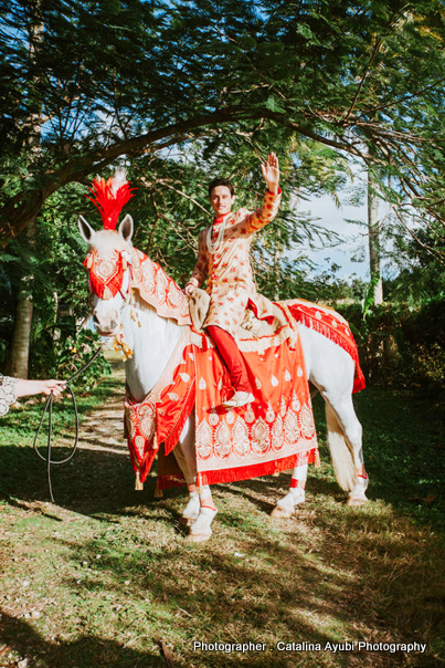 Indian Groom Photo During Baraat Procession